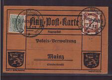 Deutsches Reich, IV Flugpostkarte 20 Pf. von 1912, Aufdruckfehler Huna (21248)