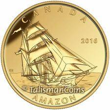 Canada 2016 Tall Ships Legacy #3 Amazon Mary Celeste Brigantine $200 Gold Proof