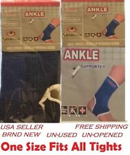 2x BLUE ANKLE Brace Elastic Support Comfort Sleeve Compression Tenis Basketball