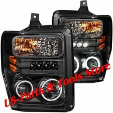 Ford F250 F350 F450 Scheinwerfer CCFL Angeleyes black LED 08 - 10 2010 2008 2009