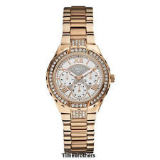 NEW GUESS WATCH for Women * Sparkling Rose Gold Tone Stainless Steel * U0111L3