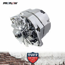 283 307 327 350 Chev V8 Proflow Alternator 100 Amp Chrome Plated Internal Reg