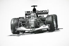 Michael Schumacher - Ferrari F2001  Print by Chris Pascoe