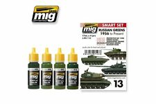 AMMO OF MIG A.MIG-7143 Acrylic Paint Set (4 jars) Russian Greens 1956 To Present