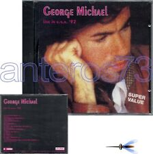 "GEORGE MICHAEL ""LIVE IN USA 92"" RARE CD MADE IN ITALY"