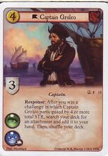 3 x Captain Groleo AGoT LCG 1.0 Game of Thrones Reach of the Kraken 15
