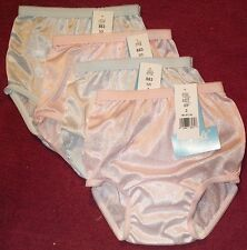 4 Nylon PANTIES KIDS SIZE 10 Colors are 2 Blue & 2 Pink & USA MADE