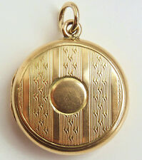 Stunning Antique Edwardian 15ct Gold Double Photo Locket or Picture Locket c1910