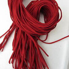 3 Strings Of 1 metre Soft Leather Suede Cords Ribbon 3mm **Choose Colour**