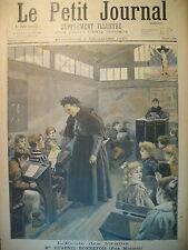 ECOLE POUR FORAINS CIRQUE POMPIER ANGLAIS POMPE A VAPEUR LE PETIT JOURNAL 1897