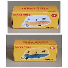 Dinky 190 Caravan Empty Repro Box Only