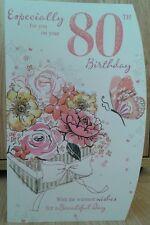 Female 80th birthday card