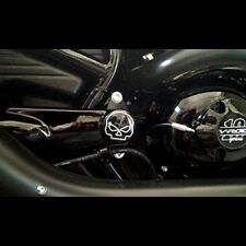 "HD V-ROD ""BLACK"" SWINGARM CAPS SKULLS ENGRAVED!"