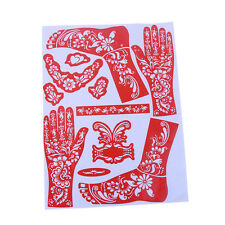 New India Henna Temporary Tattoo Stencils for Hand Foot Body Art Stickers