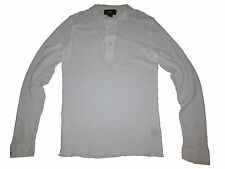 RRL Ralph Lauren Polo 1920s White Bib Collar Henley Thermal Shirt Medium