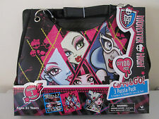 MONSTER HIGH CARRY AND GO BAG With 3 Puzzles  BRAND NEW IN PACKET Handbag