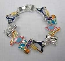 Hair Dresser Beauty Salon Stylist Charm Bracelet With Magnetic Clasp # 7283