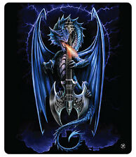 Anne Stokes Powerchord Blanket Polar Fleece Throw Gothic Bedding Dragon Guitar