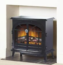 Dimplex Stockbridge SKG20BLN Freestanding Electric Fire Black Stove Style