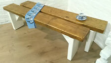 British F&B Painted 4ft Rustic Reclaimed Old Pine Dining Plank Table Chair BENCH