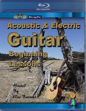 (Blu-ray Disc) BEGINNER GUITAR INSTRUCTION DVD  ACOUSTIC & ELECTRIC LESSONS