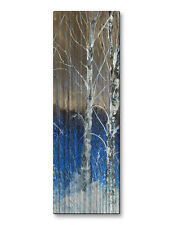 Metal Wall Art Sculpture Unique Abstract Trees Modern Artwork Stood Still