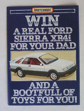 MATCHBOX COMPETITION ENTRY FORM BLANK ''WIN A REAL FORD SIERRA'' JULY 1983 MINT