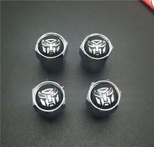 4PCS  Autobots Tire Wheel Rims Stem Air Valve Caps Tyre Cover Car Truck Bike