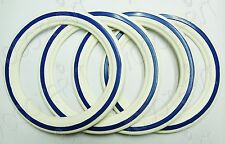 "Lambretta LI/GP/SX/TV/DL 10"" Inch White/Blue Tyre Wall Inserts 4 Pcs / 2 Tyres"