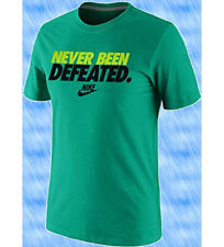 Mens Nike Never Been Defeated Athletic T-Shirt Sz XL Green Volt Black 885052 311