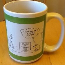 The Saturday Evening Post Coffee Mug  'Beware of Paranoid Dog' American Atelier