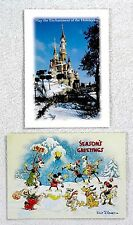 Disney Cast Member 1997 & 1998 Christmas Cards 2pc Lot