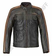 TRIUMPH RESTORE RETRO LEATHER MOTORCYCLE JACKET MLHS16501 SIZE XXXL
