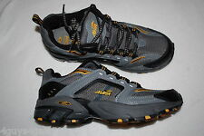 Mens Athletic Shoes BLACK GRAY AVIA SNEAKERS Leather & Mesh ARC TECHNOLOGY Sz 9