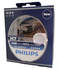 Philips h7 12v 55w px26d racing Vision +150% Duo set UK ref:477 12972rvs2