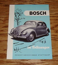 1952 Volkswagen Bosch German Sales Brochure 52 VW
