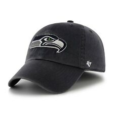SEATTLE SEAHAWKS NFL FOOTBALL NAVY BLUE CLEAN UP SLOUCH CROWN HAT/CAP NEW