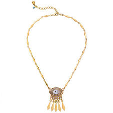 Stylish * Anthropologie Laurence Rhinestone Spike Drop Gold Chain Necklace