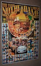 Good Condition 1987 100 Years NOTRE DAME FOOTBALL POSTER FIGHTING IRISH 29yrsold