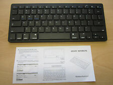 Black Wireless Bluetooth Keyboard for Selected Smart TV's