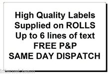 1,000 printed labels FREE P&P GREAT QUALITY 1000 supplied on ROLL
