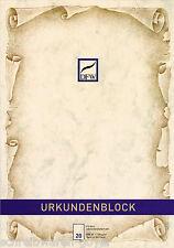 Urkundenblock A4 Urkundenpapier chamois Urkunde Gutschein Einladung Speisekarte