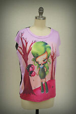 NWT Hot Topic Goody Two Shoes Pinkytoast Pop Surreal Doll Candy Apples S-Ljr.