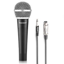 Neewer Zinc Alloy Moving Coil Handheld Dynamic Microphone w/ Cable f Karaoke(BL)