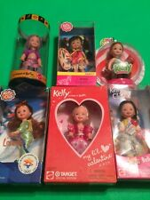 6 Kelly Club Chelsea Doll Barbie Lot Genie Skier Clown Valentine Pizza Christmas