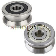 8x30x14mm V Groove Sealed Guide Pulley Rail Ball Bearing for Cylindrical Guide