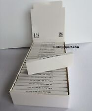 """FULL BOX/24 Packs PLAIN BLANK """"Create Your Own Brand"""" Cigarette Rolling Papers"""
