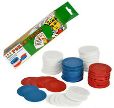 WHOLESALE 1000 POKER CHIPS RED WHITE BLUE PLASTIC STACKING WASHABLE INTERLOCK
