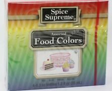 Spice Supreme® LIQUID FOOD COLORING new & fresh USA MADE baking colors crafts