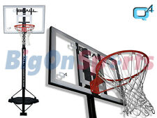 *BRAND NEW* Q4 ARENA - PORTABLE BASKETBALL SYSTEM - SILVER/RED/BLACK